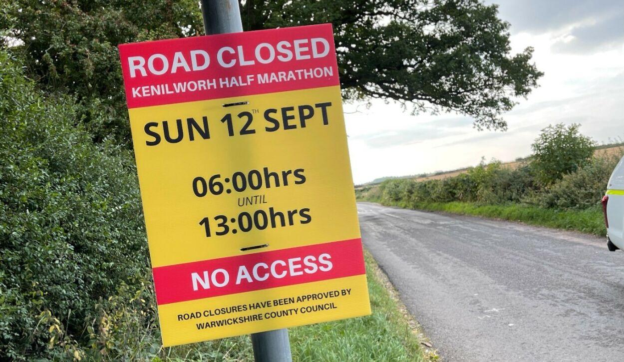 Kenilworth Half Marathon - Road Closures