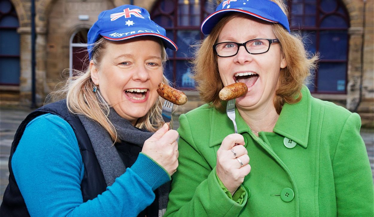 Katherine Attreed and Tina Smith invite you to their Sausage Sizzle in Market Square on Saturday